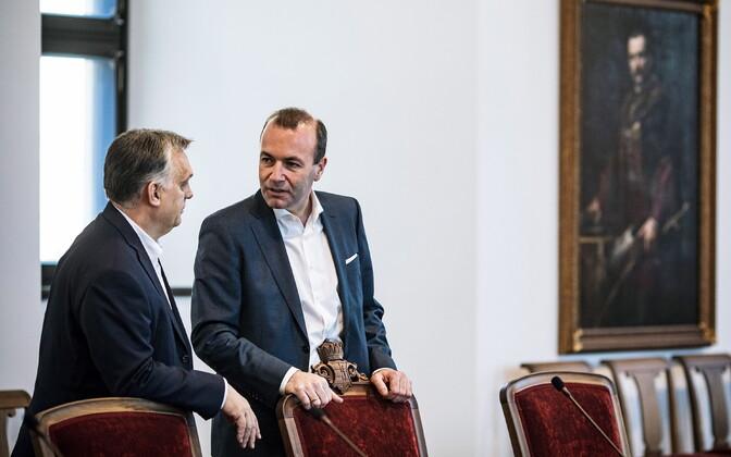 Viktor Orban ja Manfred Weber märtsi alguses Budapestis.