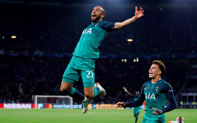 Kübaratrikiga hakkama saanud Lucas Moura lõi Tottenhamile Ajaxi vastu võidu toonud värava viiendal lisaminutil