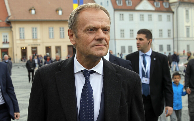 European Commission President Donald Tusk in Sibiu on Thursday. May 9, 2019.
