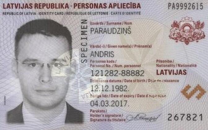 Läti ID-kaart.
