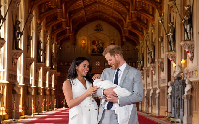 Hertsoginna Meghan, prints Harry ja Archie Harrison Mountbatten-Windsor.