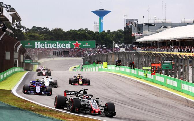 Sao Paulo vormel-1 GP-etapp Interlagose ringrajal