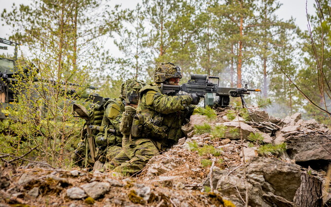 Canadian troops participating in Spring Storm in 2019.