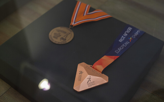 Eesti Spordi- ja Olümpiamuuseumi keldrigaleriis saab näha Magnus Kirdi ja Andrus Värniku tiitlivõistluste medaleid