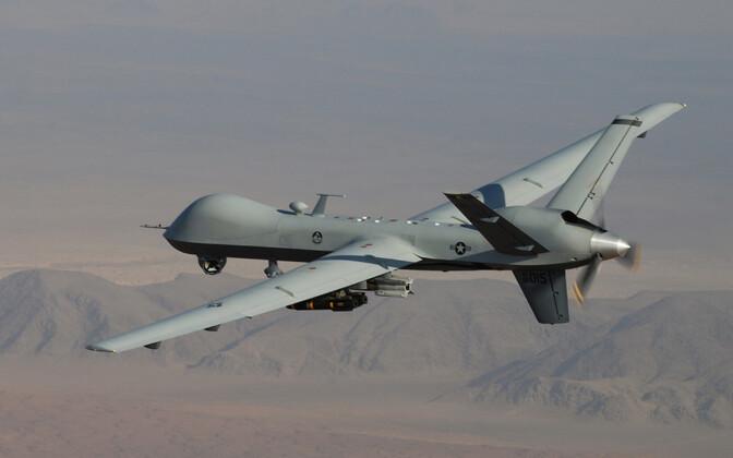 Hellfire-rakettidega relvastatud USA droon MQ-9 Reaper.