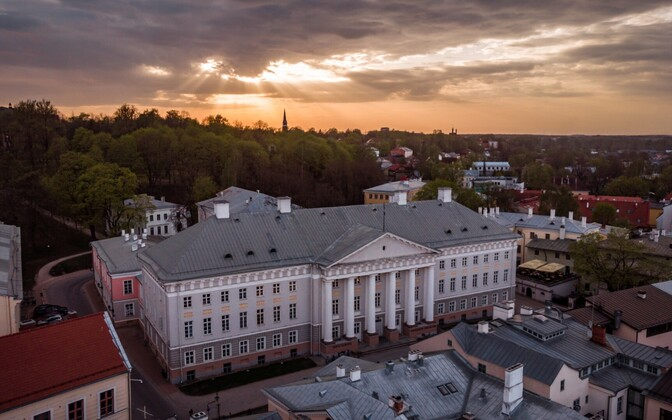 The University of Tartu's main building. Image is illustrative