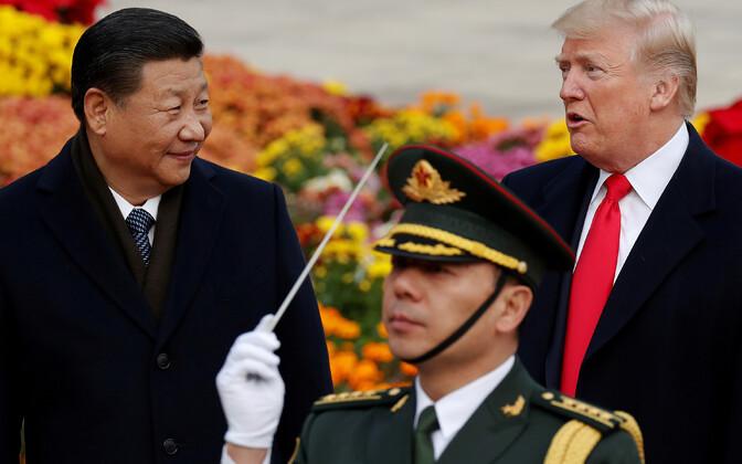 Xi Jinping ja Donald Trump 2017. aastal Pekingis.