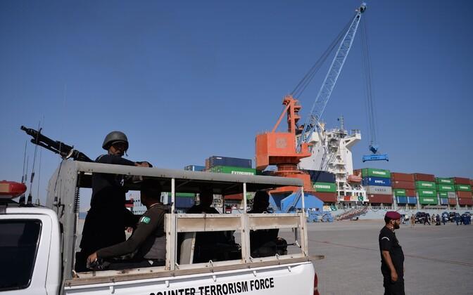 Pakistani antiterrorismi üksus Gwadari sadamas.