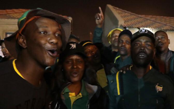 Aafrika Rahvuskongressi (ANC) poolehoidjad.