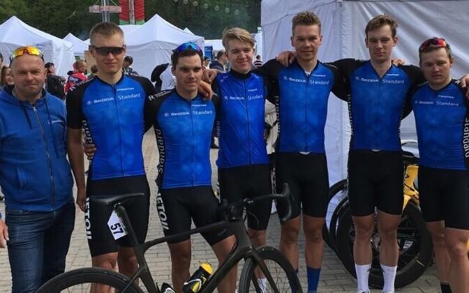 Eesti U-23 vanuseklassi rattakoondis eelmisel aastal Valgevenes võistlemas