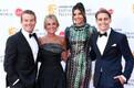 BAFTA galale saabujad,  Bradley Walsh, Donna Derby, Guest ja Barney Walsh