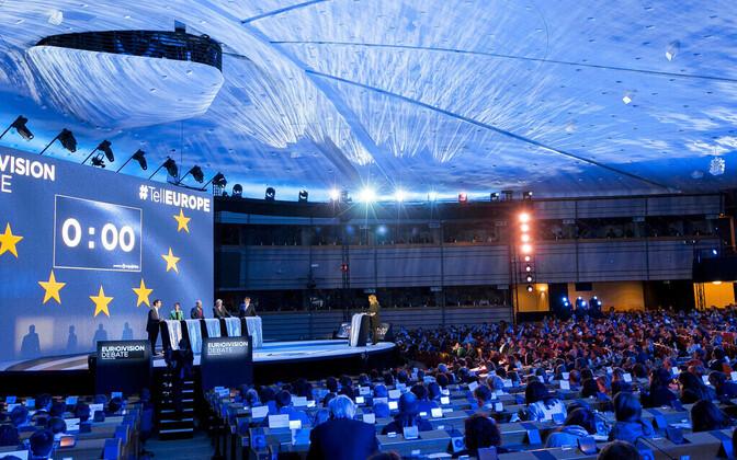 Euroopa Parlamendi valimiste debatt toimub parlamendi täiskogu saalis Brüsselis.