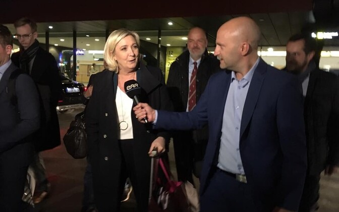 Marine Le Pen arrived in Tallinn.