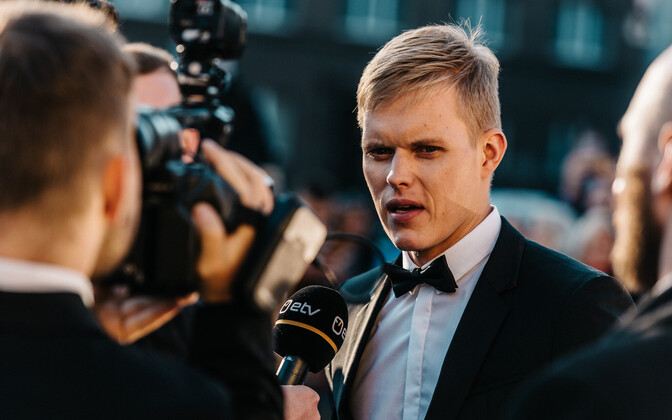 Estonian rally driver Ott Tänak at the premiere of his eponymous documentary.