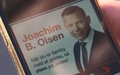 Иоахим Б. Ольсен считает, что его избиратели увлечены просмотром видео, поэтому разместил свою рекламу на порносайте.