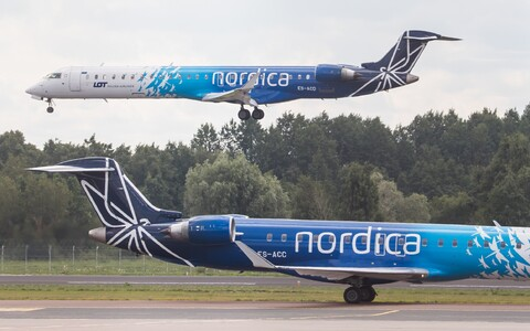 Nordica jets at Tallinn Airport.