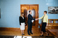 Kert Kingo meeting President Kersti Kaljulaid, Prime Minister Jüri Ratas (Centre) and taking up office at the Riigikogu (ministers do not actually sit at the Riigikogu).