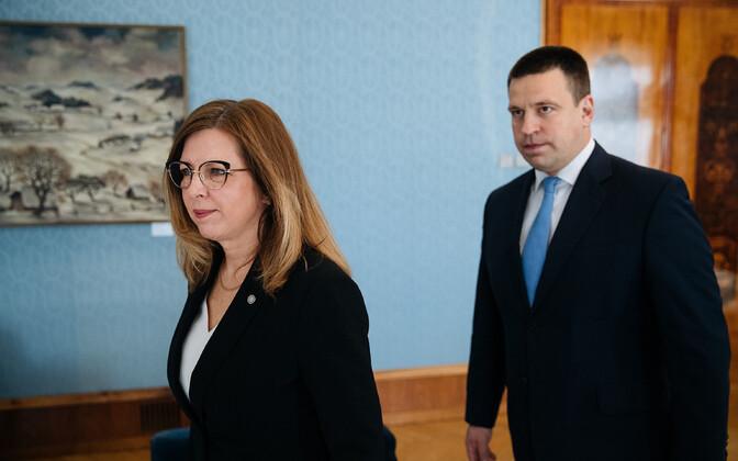 Kert Kingo (EKRE) and Prime Minister Jüri Ratas (Centre).