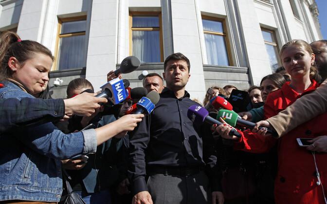 Ukraina presidendiks valitud Volodõmõr Zelenski Kiievis.