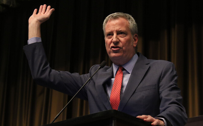 New Yorgi demokraadist linnapea Bill de Blasio.