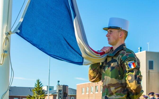 Французский контингент останется в Эстонии до конца года.