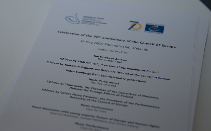 The 70th anniversary of the Council of Europe was celebrated with a reception in Helsinki on Thursday. May 16, 2019.