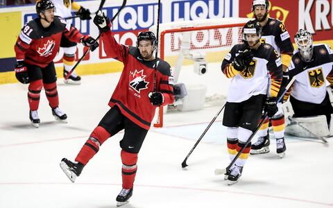 Kanada jäähokikoondislane Mark Stone viskas Saksamaa võrku kolm väravat