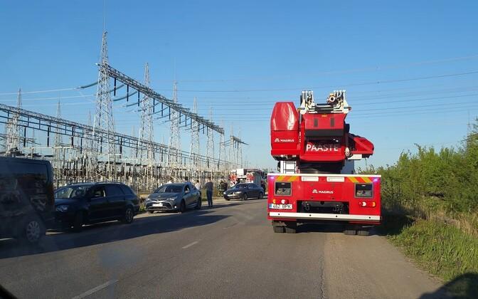 Пожар на подстанции. Фотография читателя