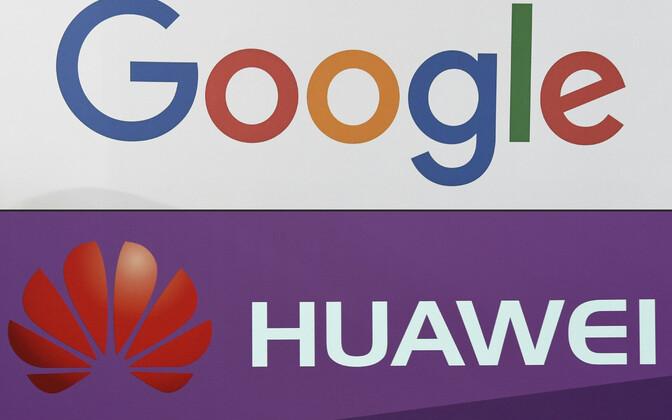 Google' i ja Huawei logod