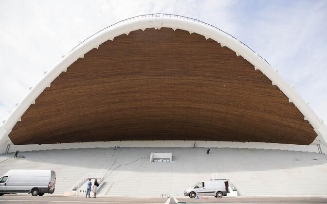 Обновленная арка Певческого поля.