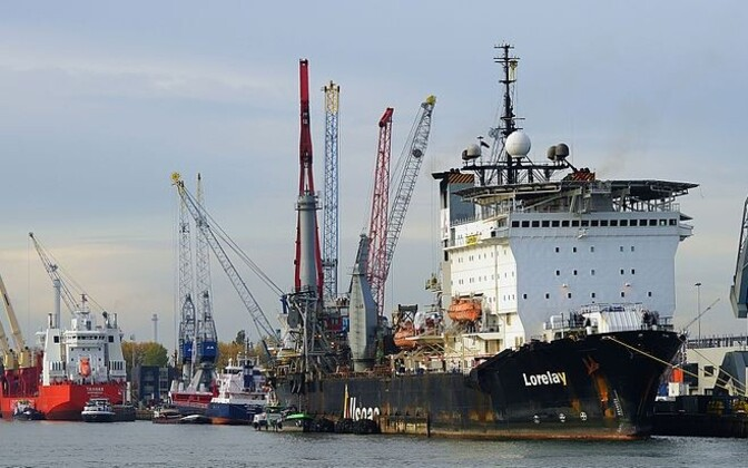 The Lorelay, the ship laying down the Balticonnector pipeline (pictured here in Rotterdam), is already on site.
