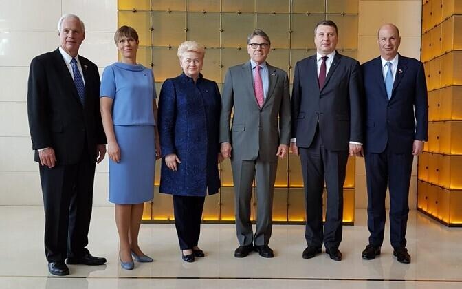 USA energiaministri Rick Perry kohtumine Balti riikide presidentidega Kiievis.