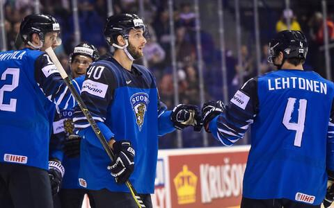 Soome jäähokikoondislased.