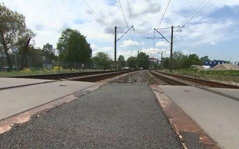 Железнодорожный переезд на улице Веэренни.