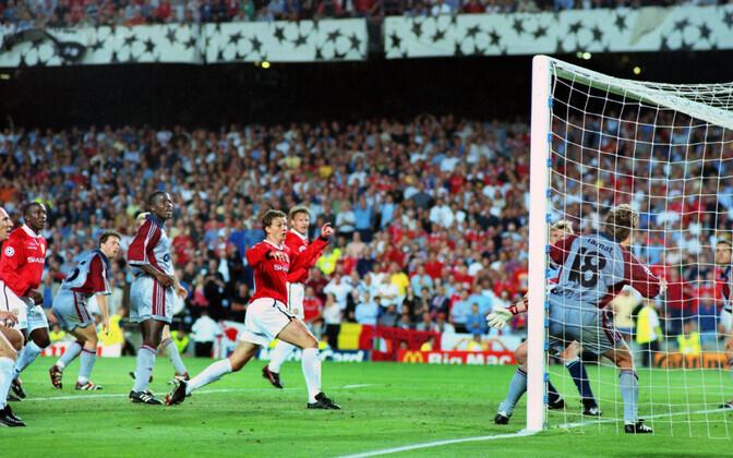 Ole Gunnar Solskjaer lööb Manchester Unitedi võiduvärava