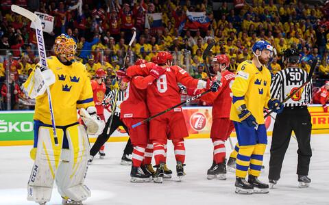 Сборная России одежала уверенную победу над шведами.
