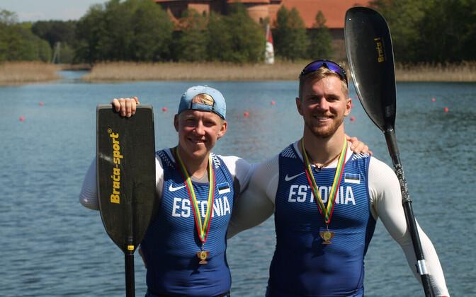 Joosep Karlson (vasakul) ja Kaspar Sula Leedu võistluse järel