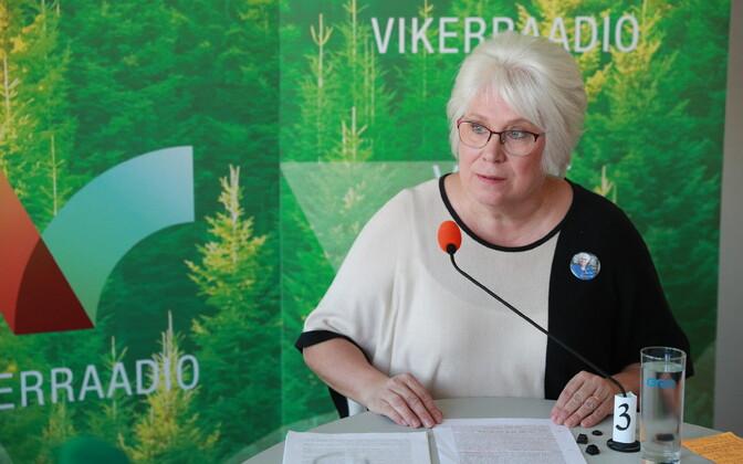 MEP Marina Kaljurand speaking on Vikerraadio.