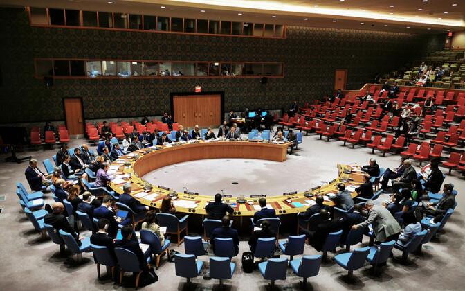 ÜRO Julgeolekunõukogu saal.