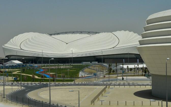 Футбольный стадион в Дохе.