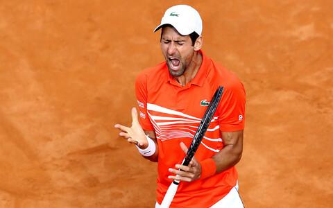 Novak Djokovic Itaalia lahtiste finaalis Rafael Nadali vastu