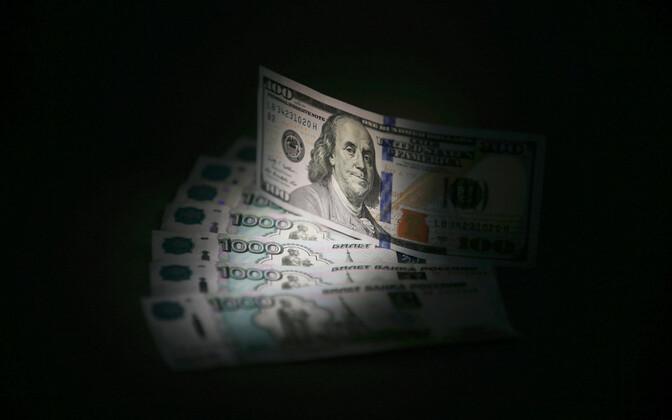 Rublad ja dollarid.