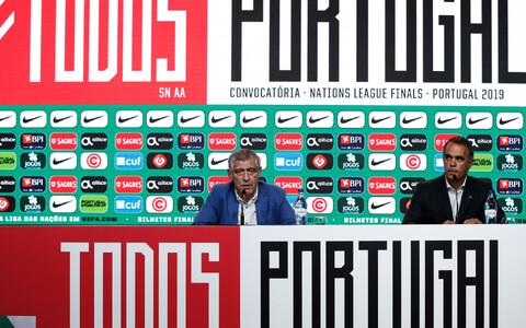 Portugali peatreener Fernando Santos pressikonverentsil
