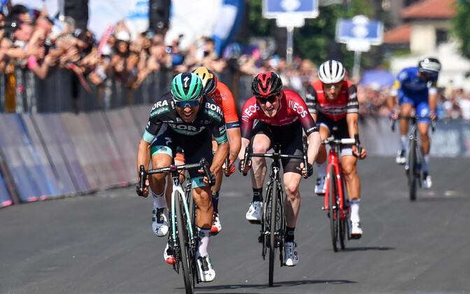 Cesare Benedetti võitmas Giro 12. etappi