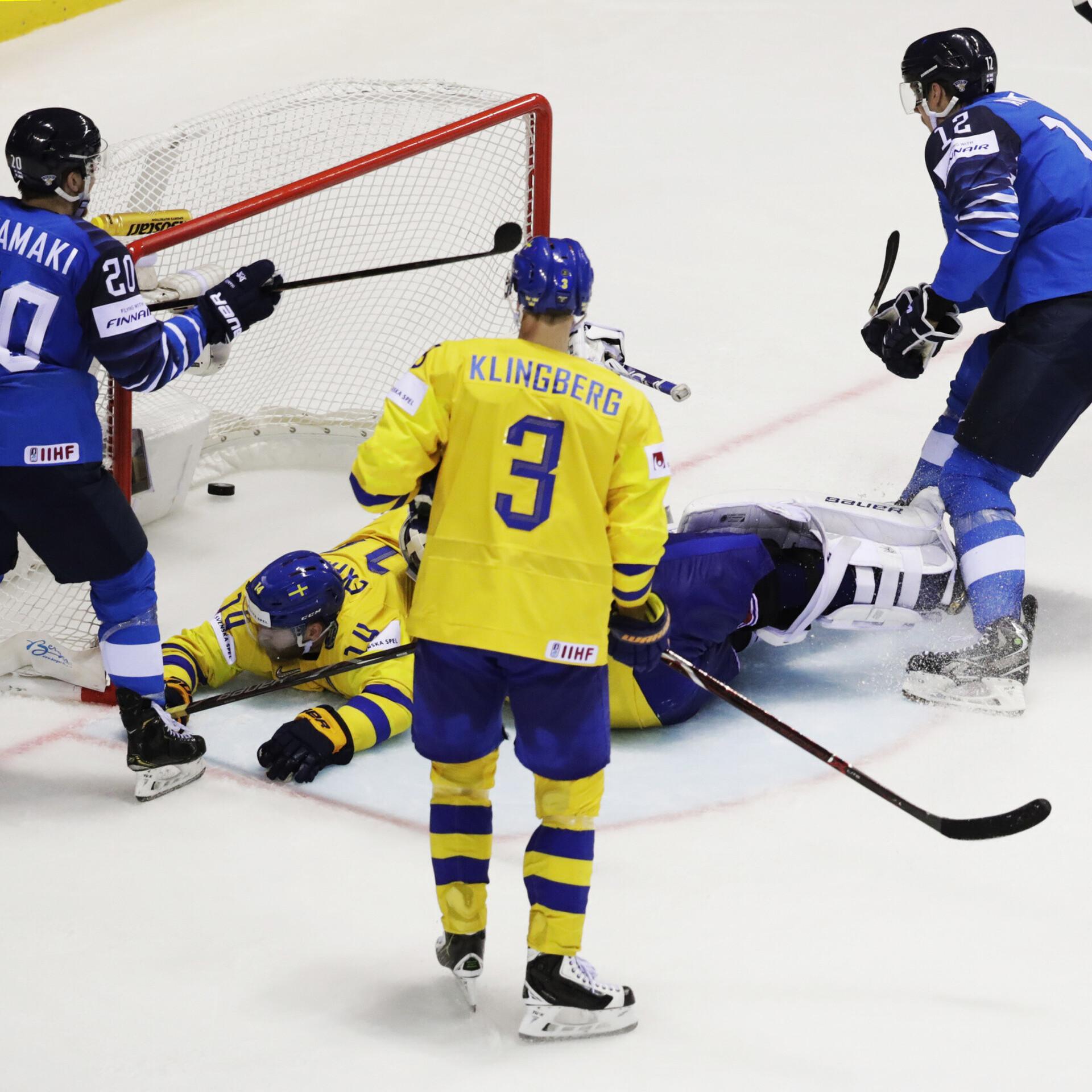 d59b1de7cb3 VIDEO | Mannineni tabamus tõi Soomele magusa võidu Rootsi üle | Jäähoki MM  | ERR