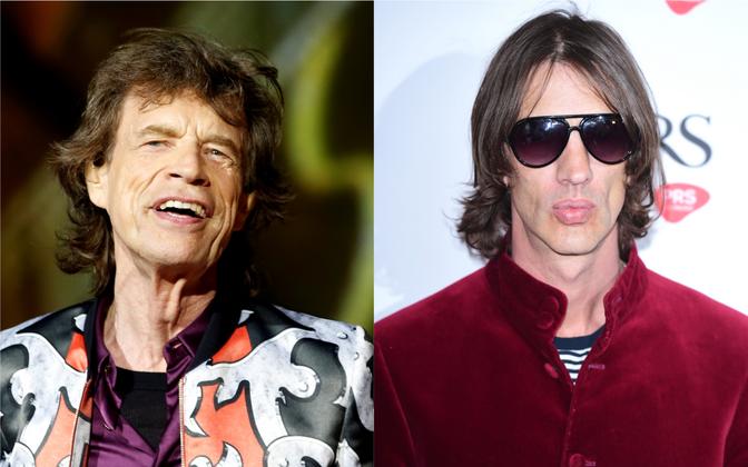 Mick Jagger (vasakul) ja Richard Ashcroft.
