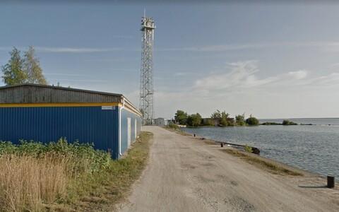 Порт Кулгу на Нарвском водохранилище.