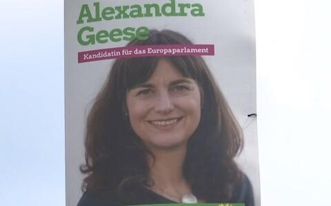 Saksa roheliste kandidaadi Alexandra Geese plakat.