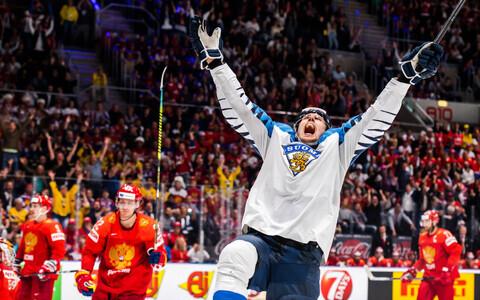 Soome jäähokikoondise kapten Marko Anttila mängus Venemaa vastu