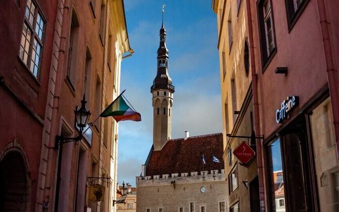 Tallinn Town Hall (Tallinna raekoda), the focus of Tallinn Day, albeit remotely this year.